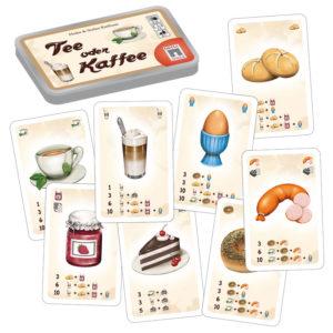 Tee oder Kaffee - Kartenspiel